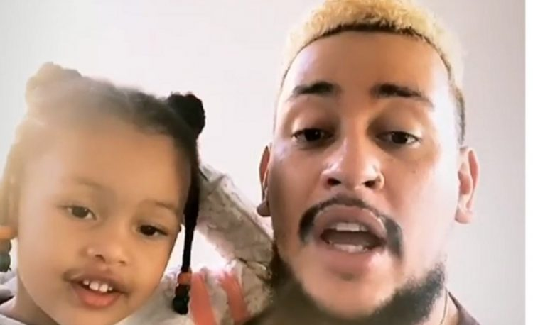 """AKA Gifts Daughter """"Kairo Forbes"""" With A Bouquet Of Roses"""