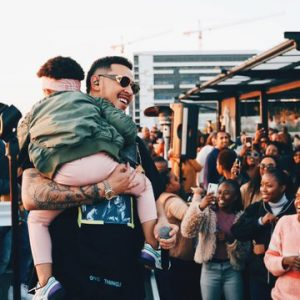 Watch: As AKA Performs While Carrying His Daughter Kairo Forbe