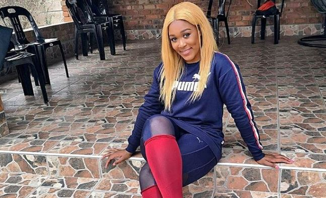 Lady Zamar Seen Vibing To Adele's Song