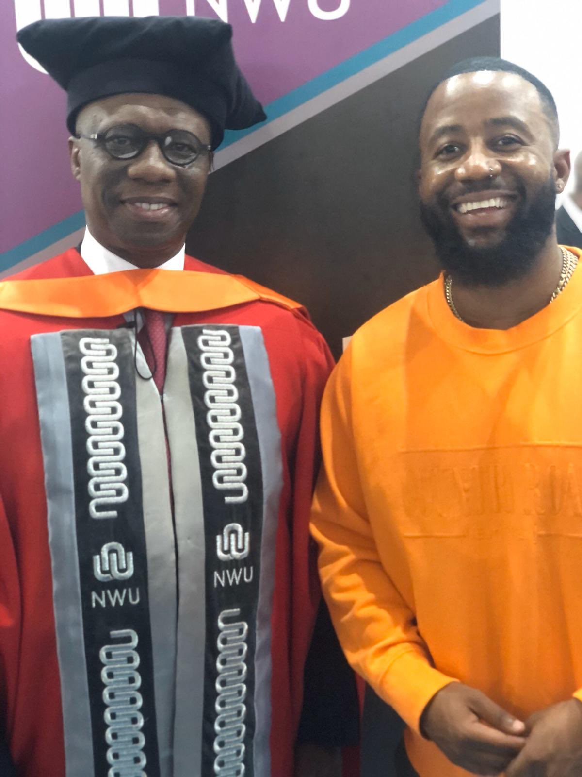 Cassper Nyovest's Mentor 'Keith Bothongo' Receives A Doctorate Degree From The University Of North West.